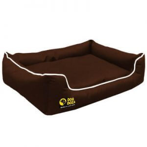 Memory Foam Sofa Style Dog Bed in Brown (Large)