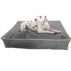 Waterproof Memory Foam Dog Mattress Bed in Grey (Large)