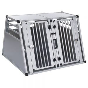 Aluline Double Dog Crate - X-Large: 97 x 92 x 68cm (W x D x H)