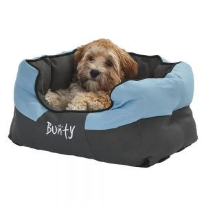 Bunty Anchor Waterproof Dog Bed, Soft Washable Hardwearing, Blue / Small
