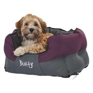 Bunty Anchor Waterproof Dog Bed, Soft Washable Hardwearing, Purple / Small