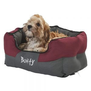 Bunty Anchor Waterproof Dog Bed, Soft Washable Hardwearing, Red / Small