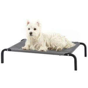 Bunty Elevated Raised Dog Bed, Pet Bed Portable Waterproof Outdoor Raised Camping Basket, Small
