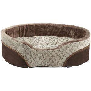Bunty Mocha Dog Bed Soft Washable Fleece Fur Cushion Warm Luxury Pet Basket, Cream / Small