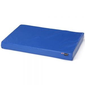 Bunty Outback Hard-Wearing Dog Bed Mattress, Blue / Small