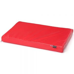 Bunty Outback Hard-Wearing Dog Bed Mattress, Red / Small