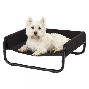 Bunty Raised Dog Bed, Elevated Dog Pet Bed Portable Waterproof Outdoor Raised Camping Basket, Small