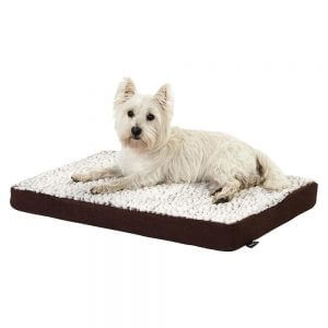 Bunty Ultra Soft Fur Washable Dog Pet Mattress Basket Bed Cushion Fleece Pillow, Brown / Small