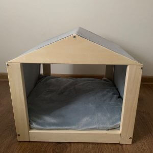 Cat Hut House Bed With Mattress, Removable Cushion, Stylish Cat & Small Dog House, Cave - Soft Velvet Fabric, Custom Sizes Available