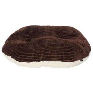 Chester Oval Fleece Dog Bed, Brown / Small