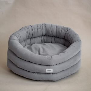 Cloud Dog Bed - Gray Washable Pet House Handmade Scandinavian Home Decor Small Medium Large For Or Cat