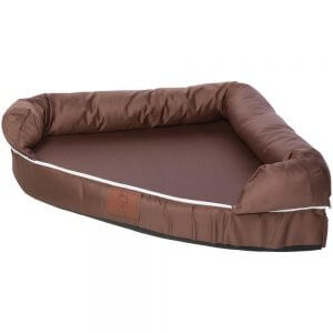 Cosy Corner Couch Bed, Brown / Small
