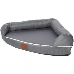Cosy Corner Couch Bed, Grey / Small
