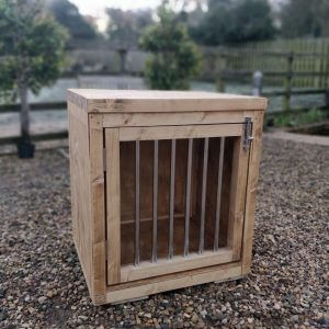 Farmhouse Wooden Dog Crate & Furniture