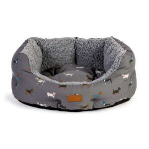 FatFace Marching Dogs Deluxe Slumber Dog Bed Small