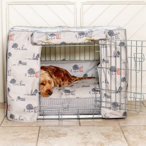 Hyde Park Dog Crate, Cover & Cushion Set - Available in 4 Sizes 3 Crate Colours