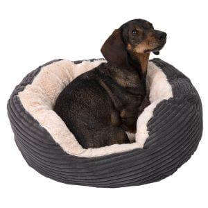 Jumbo Pet Bed - Grey - 63 x 53 x 15 cm (L x W x H)