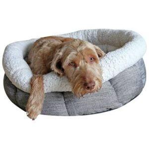 """Rosewood Deep Tweed Oval Teddy Bear Dog Bed 20"""""""