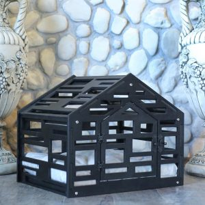 Wood Dog Crate Kennel Indoor House Pet Furniture Puppy Bed Pad New Gift