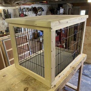 Wooden Dog Crate Based On A 30 Inch Cage